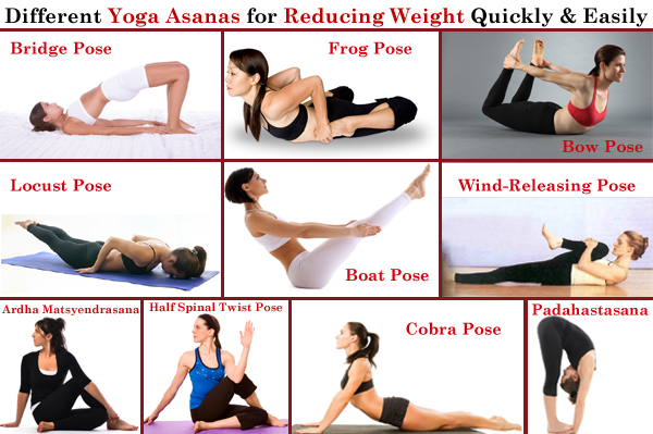 Different Yoga Asanas for Losing Weight Quickly and Easily
