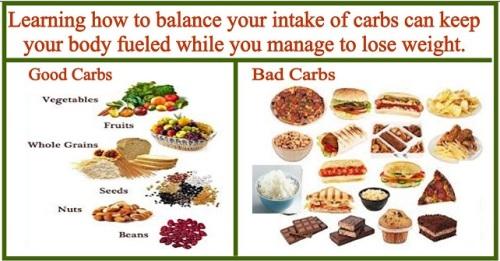 good carbs and bad carbs lose weight