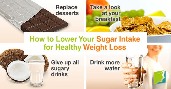 Reduce sugar intake to lose weight