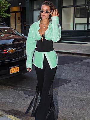 Celebrities Bella Hadid Wearing Corset- Waist Training