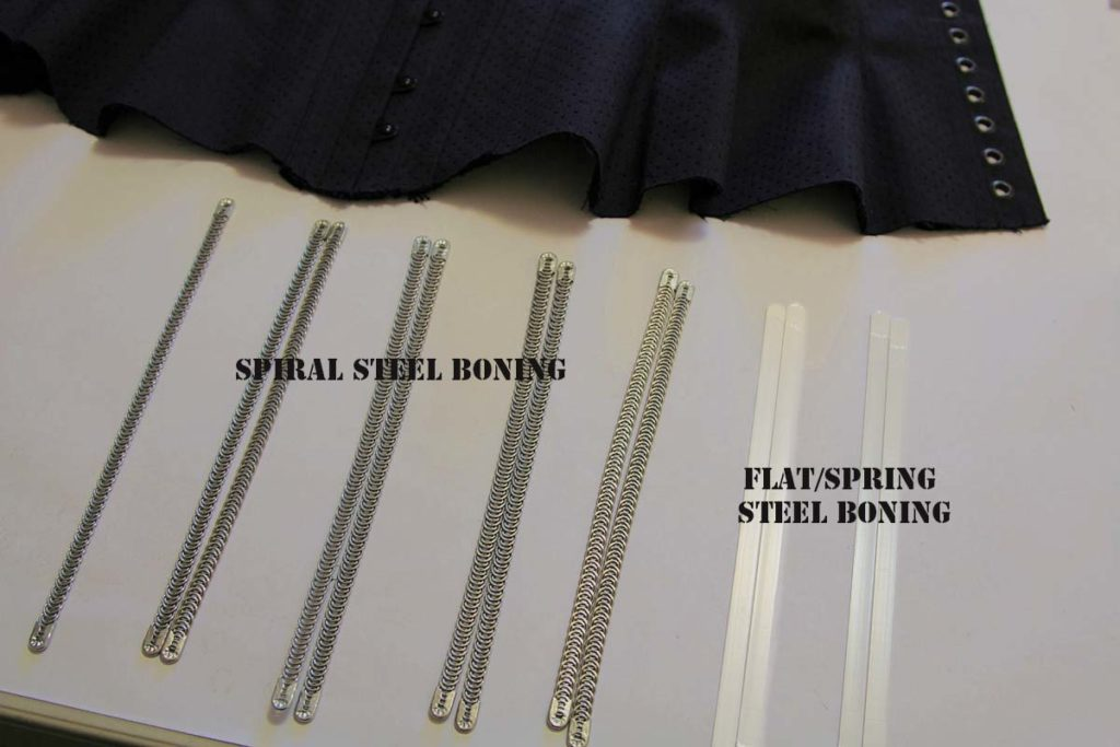 What is the difference between spiral steel boning and flat steel boning