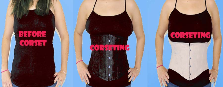 before and after waist corset shaping example