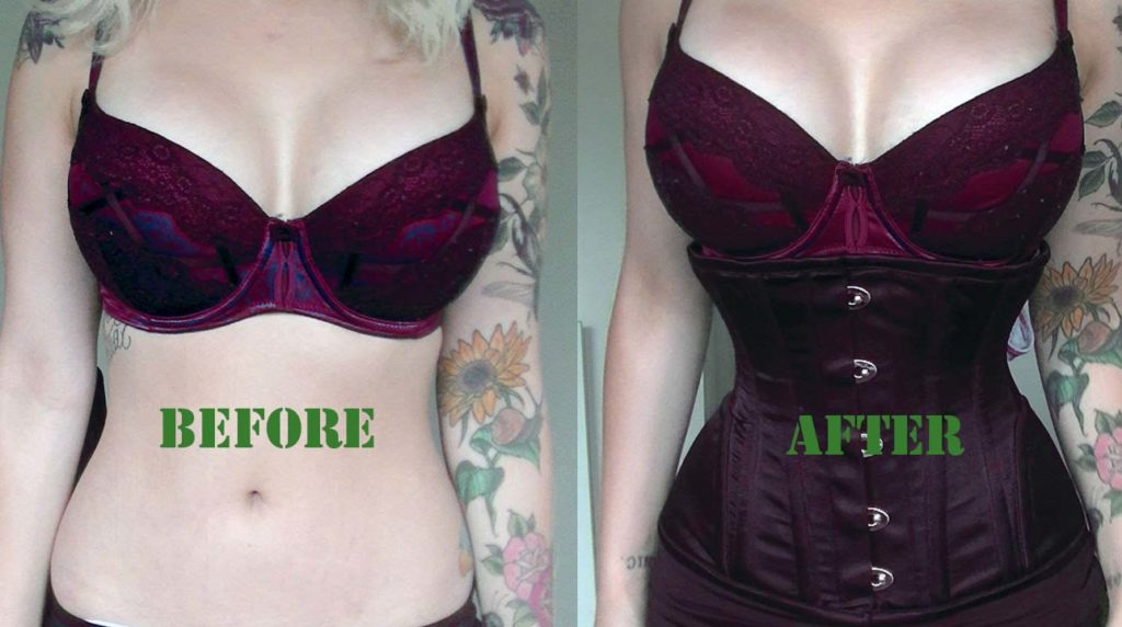 corset before and after result
